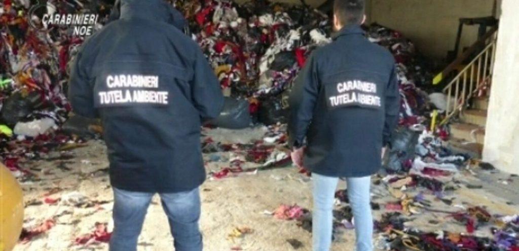 Maxi traffico illecito di scarti tessili scoperto dai Carabinieri del Noe di Firenze
