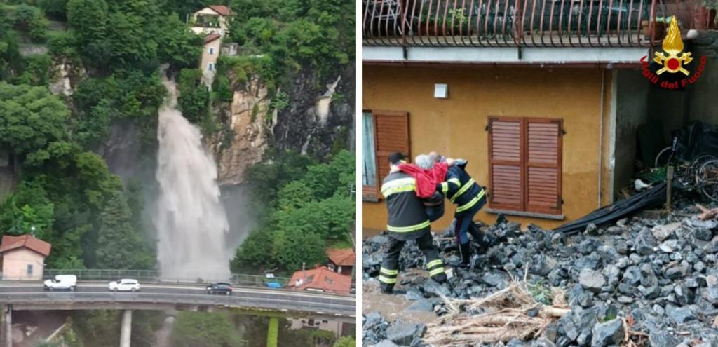 Maltempo e inondazioni a Como, danni incalcolabili e persone evacuate