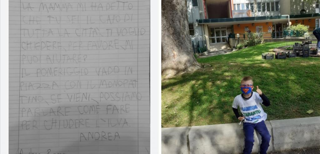 """""""Possiamo chiudere l'Ilva?"""" La lettera del bimbo di 8 anni al sindaco di Taranto"""