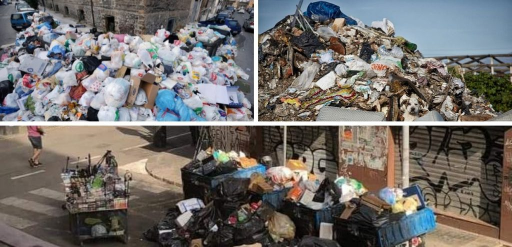 Palermo, 300 tonnellate di rifiuti in strada. Si rischia l'emergenza sanitaria