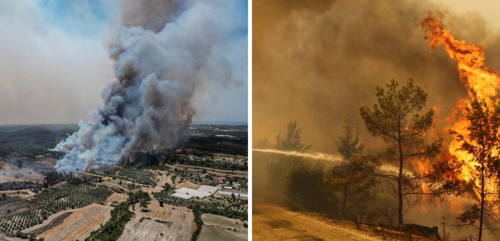 Incendi, anche la Turchia in fiamme: morti e feriti, turisti sfollati via mare