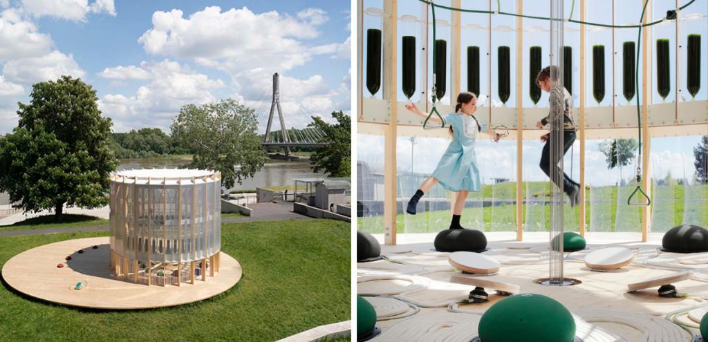 Inquinamento, un parco giochi che purifica l'aria: il progetto Airbubble