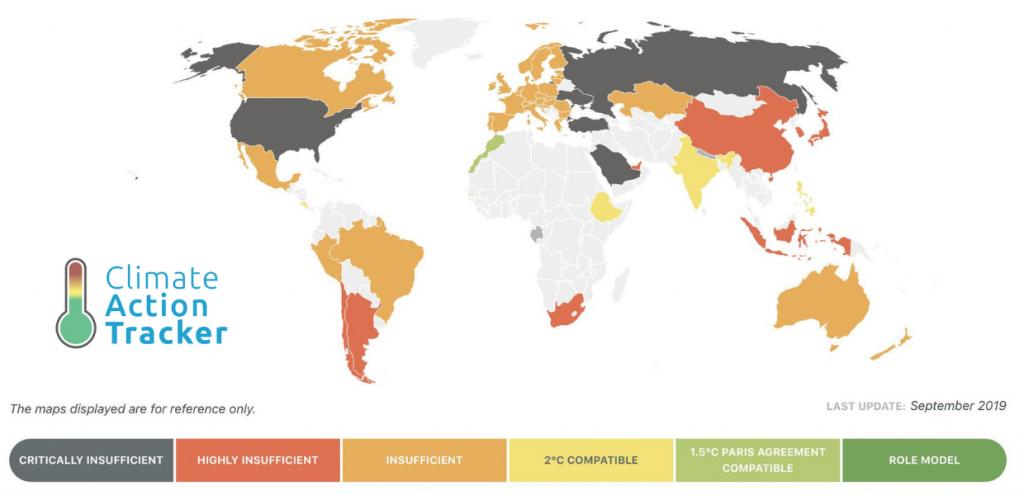Climate Action Tracker: un solo Paese è in linea con gli Accordi di Parigi