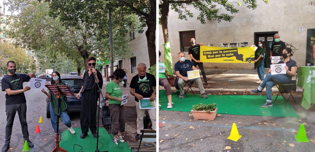 Roma, Greenpeace contro le troppe auto in città: l'iniziativa ParkingDay