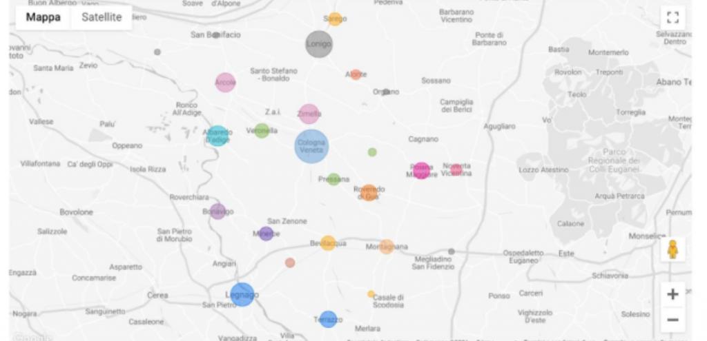 Pfas, ecco la mappa delle aree contaminate in Veneto