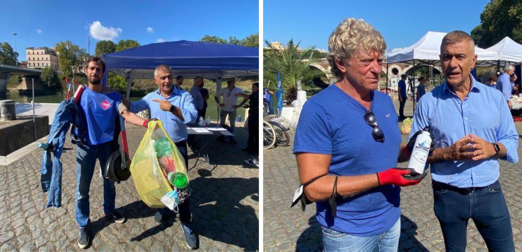 """Il Tevere non è una discarica! Roma Ecologista con Retake per il World Cleanup Day: """"Serve un'autorità unica per fermare chi inquina"""""""
