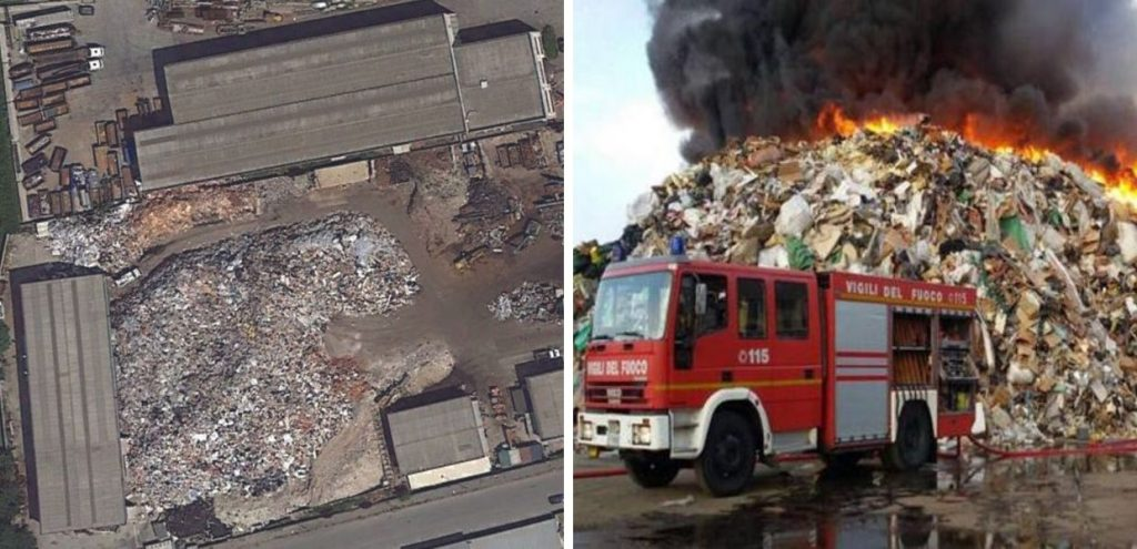 Pavia, maxi incendio nell'azienda di rifiuti eredi Bertè. Tre arresti