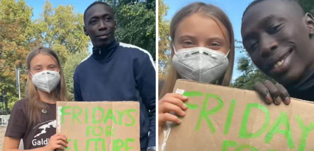 """Khaby Lame insieme a Greta Thunberg """"per il pianeta"""". Ma per il famoso tiktoker insulti e """"unfollow"""""""