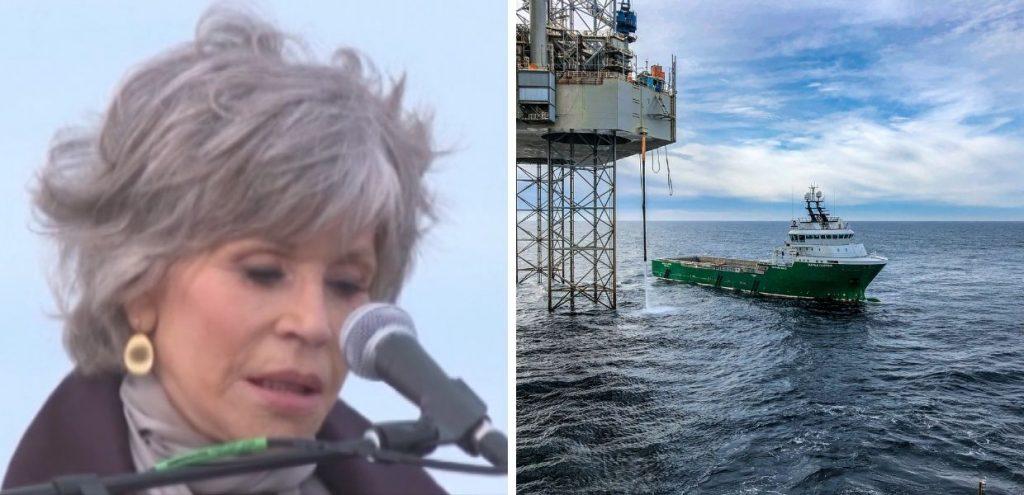 """Appello di Jane Fonda: """"dobbiamo fermare tutte le nuove trivellazioni"""""""