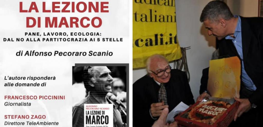 """""""La lezione di Marco"""", presentazione del libro su Pannella il 20 ottobre a Roma"""