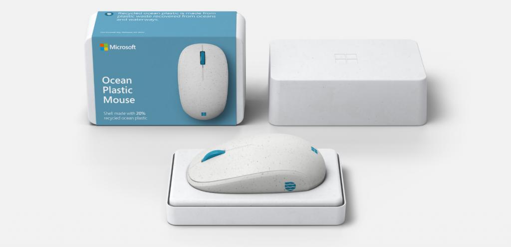 Plastica, Microsoft sempre più sostenibile: ecco il mouse prodotto con i rifiuti oceanici