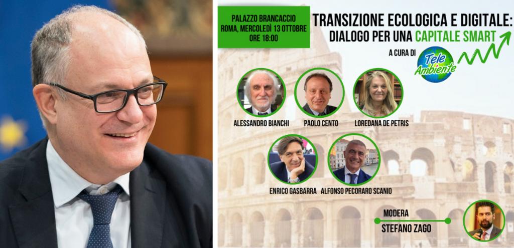 """""""Transizione Ecologica e Digitale: dialogo per una capitale smart"""". Incontro tra ecologisti e Roberto Gualtieri"""